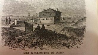 Fort Wellington - Fort Wellington in 1860