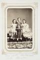Fotografiporträtt på barnen Elma, Charlotte, Seth och Bertha Kempe, 1860-tal - Hallwylska museet - 107827.tif