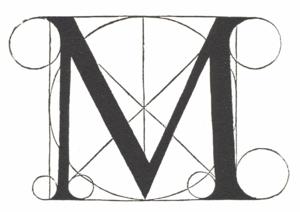 De divina proportione -  Architectural letter 'M'