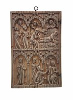 France Plaque with childhood of Christ.jpg
