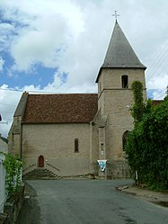 The church in Crozant