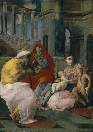 Holy Family with St Elizabeth