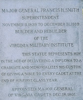Francis Henney Smith - Inscription on the monument