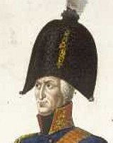 Count Kalckreuth in military uniform and large hat