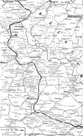 Battle of Courtrai (1918) - Western Front, 16 October 1918