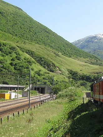 Furka Base Tunnel - East portal (1550 m a.s.l.)