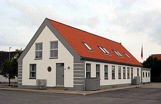 Pandrup Town in North Jutland, Denmark