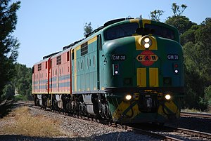 Australian National Railways Commission - Genesee & Wyoming Australia GM class in Australian National livery in April 2008
