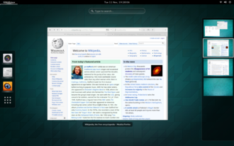 Virtual desktop - Dynamic virtual desktops in GNOME Shell. Workspaces are automatically added or deleted as the existing ones are respectively consumed or freed.