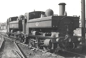 GWR 0-6-0PT - 1366 Class No. 1367 at Weymouth in May 1961