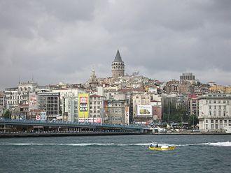 Karaköy - A view of the Karaköy skyline from the Bosphorus
