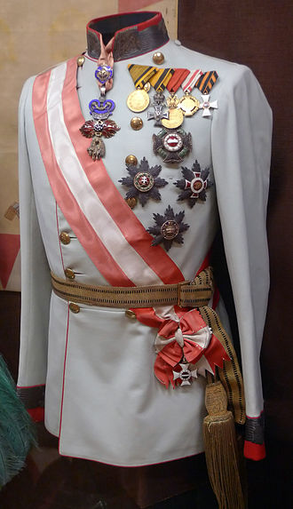 Military Order of Maria Theresa - Gala uniform of Franz Joseph I, with the Grand Cross sash and star
