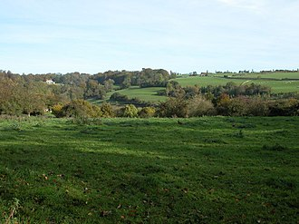 Gatcombe Park - Gatcombe Park as seen from the village of Avening