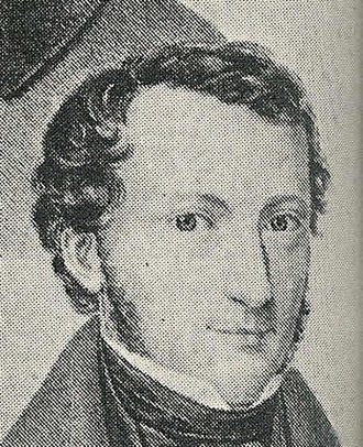 Georg Gottfried Gervinus - Gervinus as seen in a lithograph of the Göttingen Seven, by Carl Rohde, 1837/38