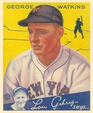 George Watkins (baseball) - Image: George Watkins Goudeycard