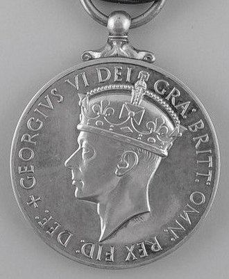 George Medal - Image: George Medal, King George VI, second obverse