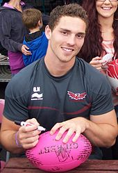 George North en 2012.