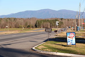 Georgia State Route 52 - Georgia State Route 52 in Whitfield County, with Grassy Mountain in the background