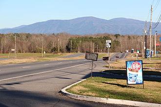 U.S. Route 76 in Georgia - US Route 76 in Whitfield County, Georgia