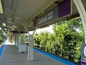 Chicago Transit Authority - Purple Line Central Station, Evanston.