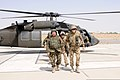 German army Brig. Gen. Juergen Brandenstein, right, the command surgeon of the International Security Assistance Force, and Afghan National Army (ANA) Gen. Mohammad Wardak, left, the ANA surgeon general, arrive 130819-A-VM825-022.jpg