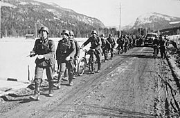 German forces on march at Søre Øyhus.jpg