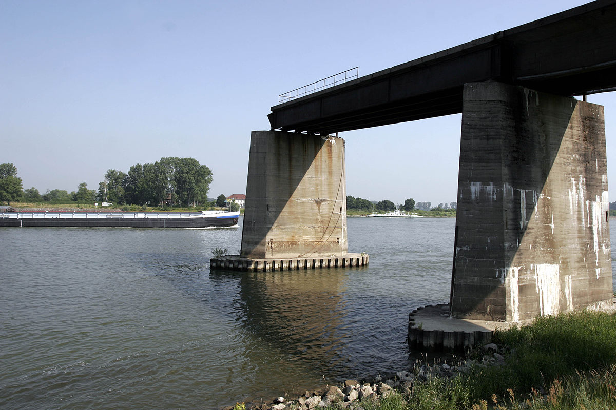 Stahlträger rheinbrücke gernsheim