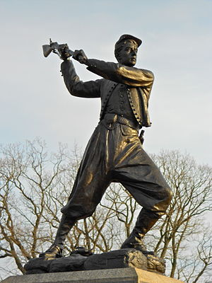 72nd Pennsylvania Infantry Monument - Image: Gettysburg mon 72nd Penna Inf