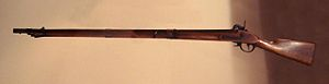"""Gewehr - A """"Gewehr"""" smoothbore gun, of the type mostly used by the Shogunate during the Boshin war (1868-69) in Japan."""