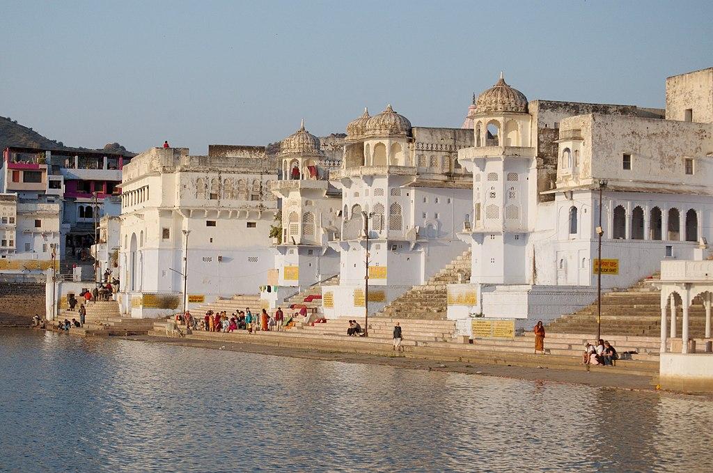 Ghats on the Pushkar lake, Rajasthan