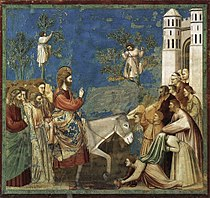 Giotto di Bondone - No. 26 Scenes from the Life of Christ - 10. Entry into Jerusalem - WGA09206.jpg