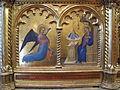Giovanni da milano, polittico di prato, 1353-1363, da spedale della misericordia, predella 2, 03 annunciazione.JPG