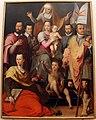 Giovanni maria butteri, madonna in trono col bambino, s. anna, santi e personaggi famiglia medici, 01.JPG