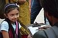 Girl Having Sketched by Street Portrait Artist - 40th International Kolkata Book Fair - Milan Mela Complex - Kolkata 2016-02-02 0420.JPG