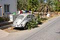 Girne-Kyrenia - Straße im ehemaligen Turkish Quarter mit eingewachsenem VW (2003).jpg