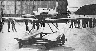 Calshot Castle - Gloster VI seaplane N249, at RAF Calshot in preparation for the 1929 Schneider Trophy race