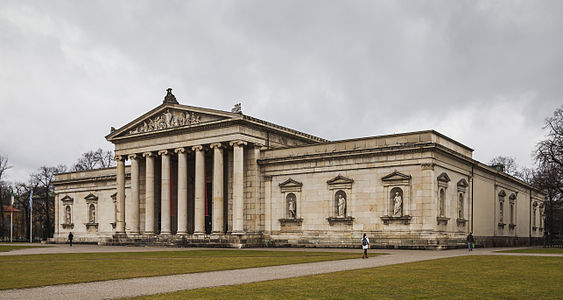 Museum Glyptothek, built by order of Bavarian King Ludwig I to host his collection of Greek and Roman sculptures, Munich, Germany