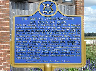 Goderich Airport - Image: Goderich BCATP Historical Plaque