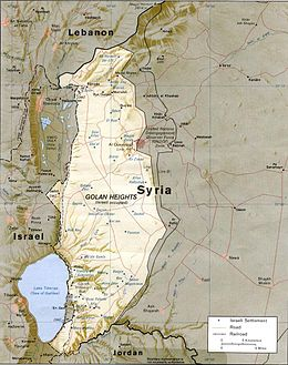 Agreement on disengagement between israel and syria wikipedia sites on the golan in blue are israeli settlements sites on the golan in black are syrian villages areas of the golan occupied by israel are gumiabroncs Images