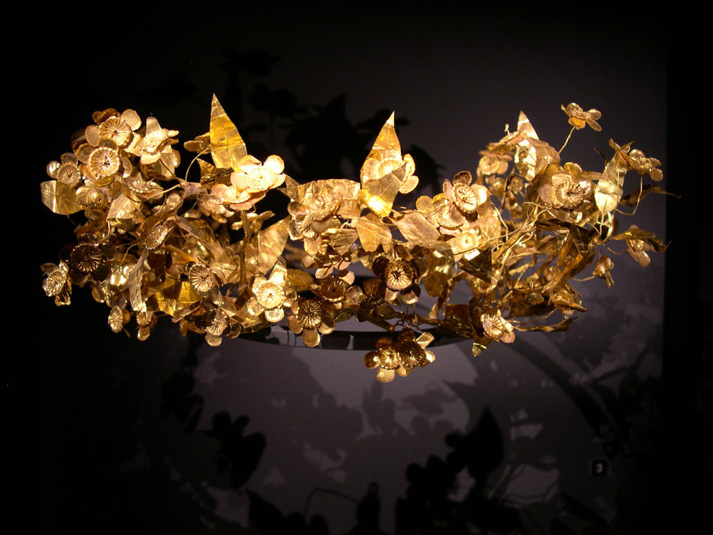 File Golden Leaf Crown Of Ancient Macedonian Origin