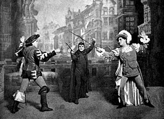 Stage combat - The beginning of a staged duel from Act IV of Gounod's Faust.