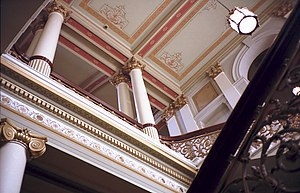 Italianate architecture - Government House, Melbourne. The Hall decorated in 19th-century Italianate style.