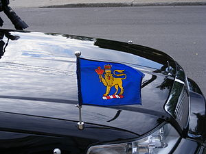Flag of the Governor General of Canada - The flag affixed to the governor general's car