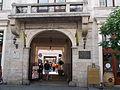 Gozsdu-yard. Király Street's entrance. Built between 1901-1902. Architect Gyöző Czigler. Monument ID 840 - Budapest 7th district. Király St. 13 & Dob St. 16.JPG