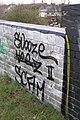 Graffitied bridge - geograph.org.uk - 754961.jpg