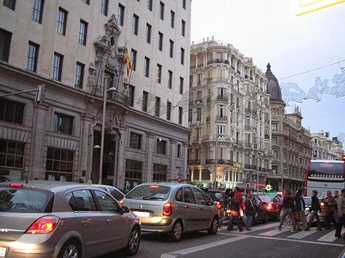 Gran Vía, Madrid city, cars.jpg