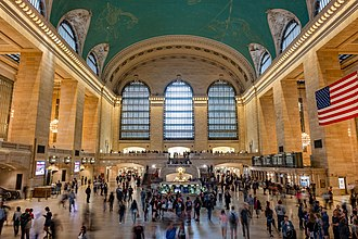 Grand Central Terminal in New York City Grand Central Terminal ceiling view.jpg
