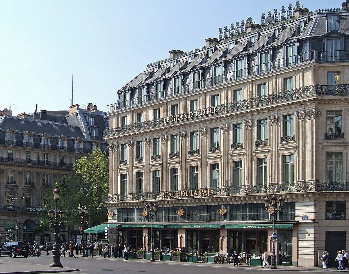 Intercontinental paris le grand hotel wikipedia for Grand hotel