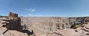 Grand Canyon Skywalk - View of the Skywalk and the surrounding canyon