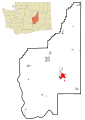 Grant County Washington Incorporated and Unincorporated areas Moses Lake Highlighted.svg